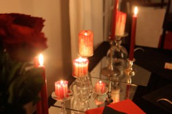 Halloween repas de vampires table