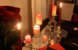 Halloween repas de vampires table