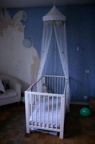 chambre d'enfant en travaux