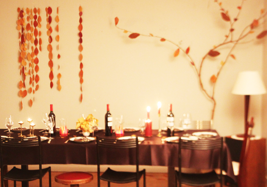 guirlandes de feuilles DIY Thanksgiving