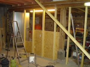 maison en travaux cloison bois