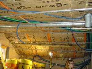 travaux isolation et électricité