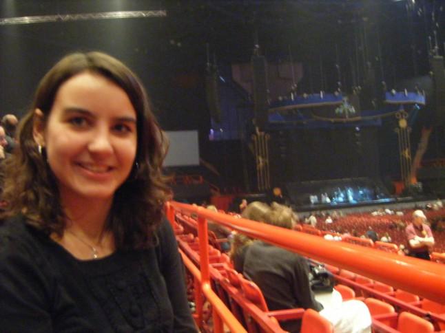 Mme Givrée au concert de James Blunt