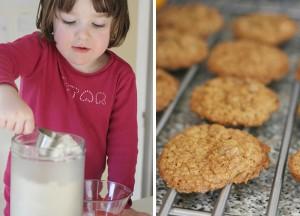 cookies noisettes et raisins