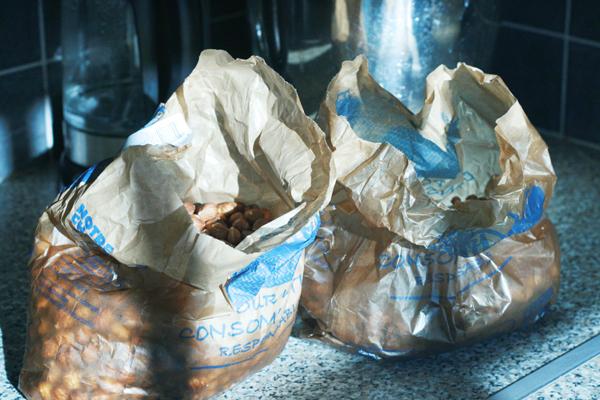 sacs de noisettes
