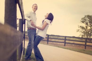 photo de couple rires
