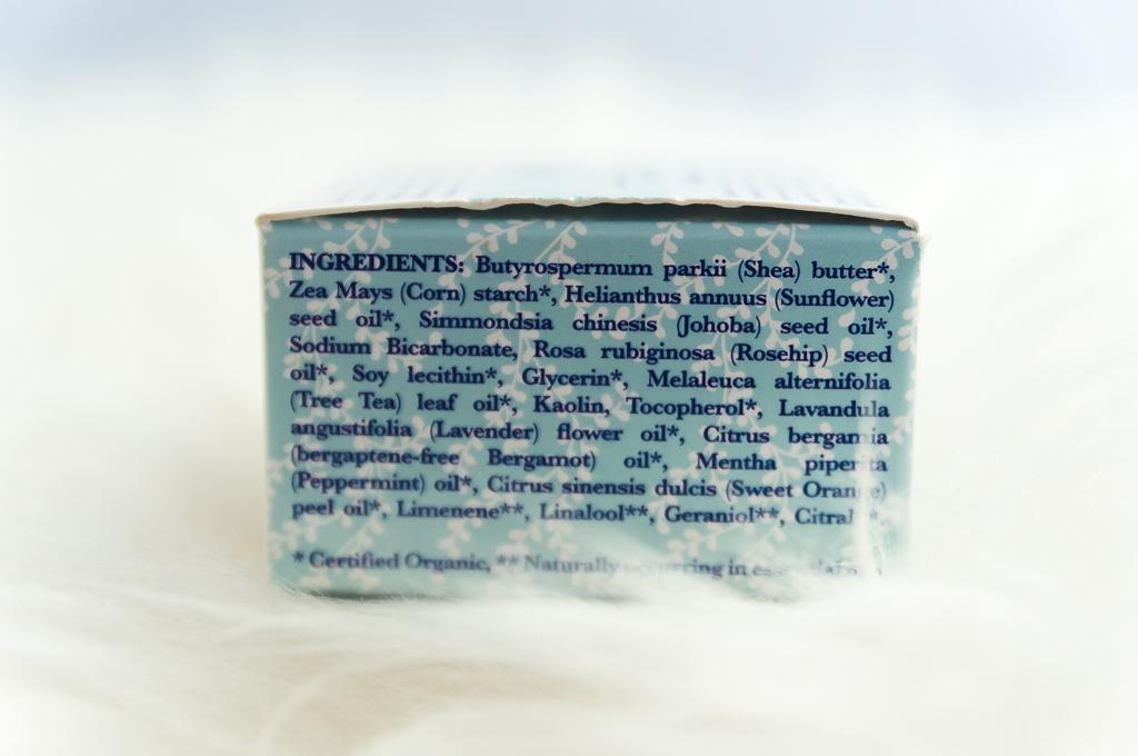 déodorant bio crémeux liste d'ingrédients