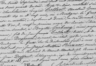 texte manuscrit registre d'état civil