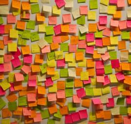 mur de post-it