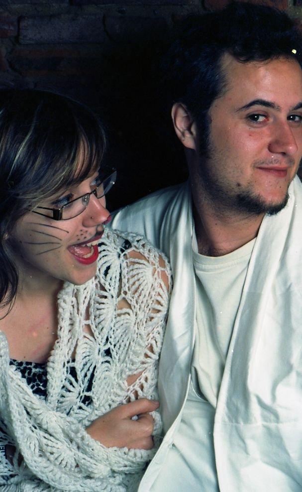 photo de couple déguisé