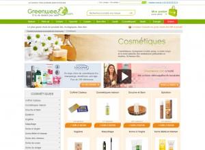 capture d'écran site Greenweez