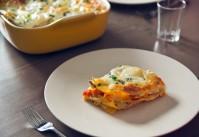 lasagnes courgettes sauce tomate ricotta et parmesan