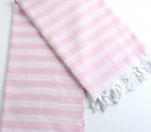 drap de bain fouta ou peshtemal rose