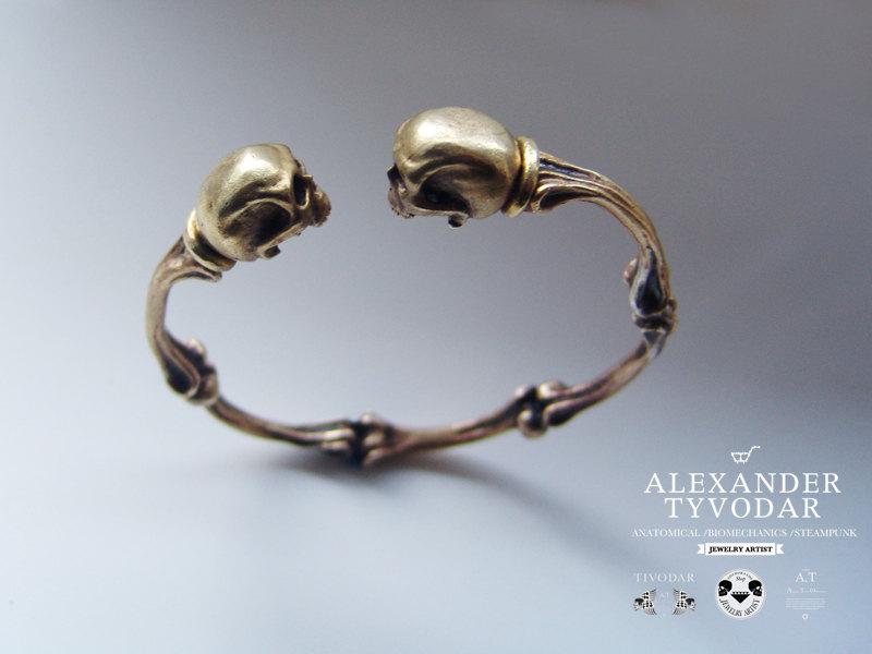 bracelet squelette laiton