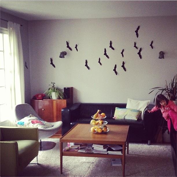 14 id es de d co faciles et pas ch res pour halloween - Deco halloween chauve souris ...