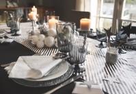 Une d co de table de no l blanc et or vintage sous notre - Deco table noel argent et blanc ...