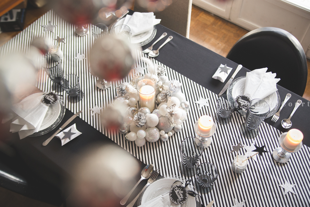 Deco de table noir et blanc pas cher 13 d co table de for Deco table argent et blanc