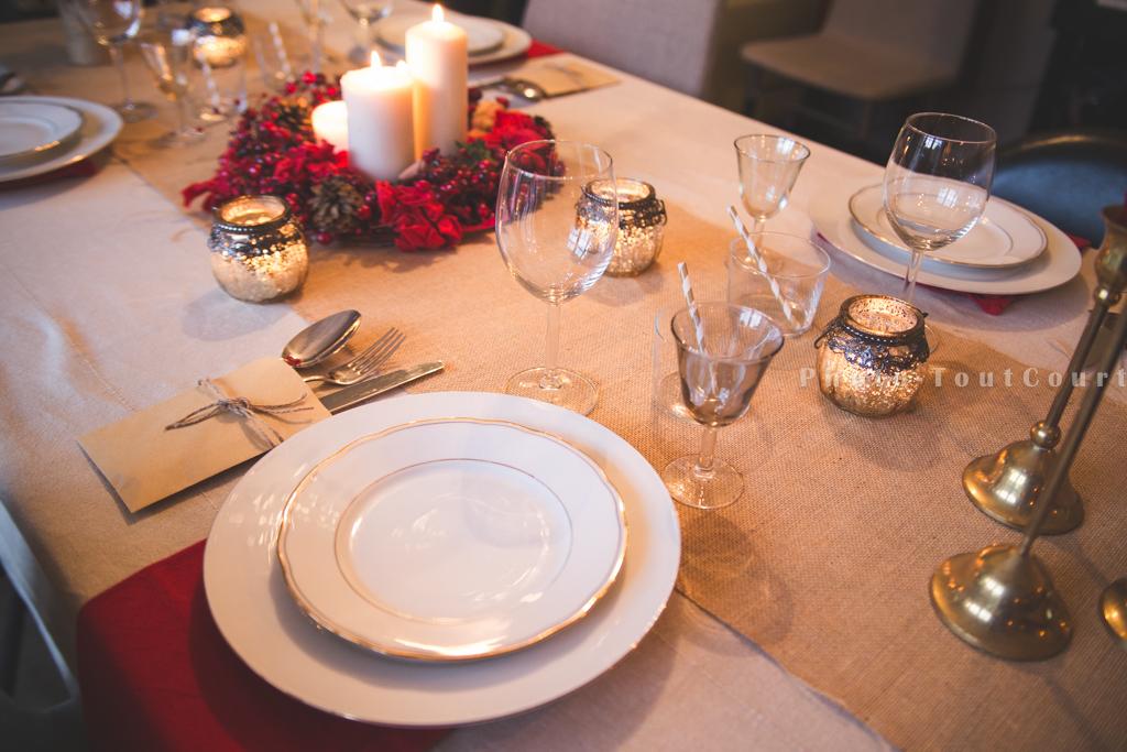 Deco table noel rouge vintage-0854