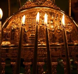 menorah chandelier de Hanouka