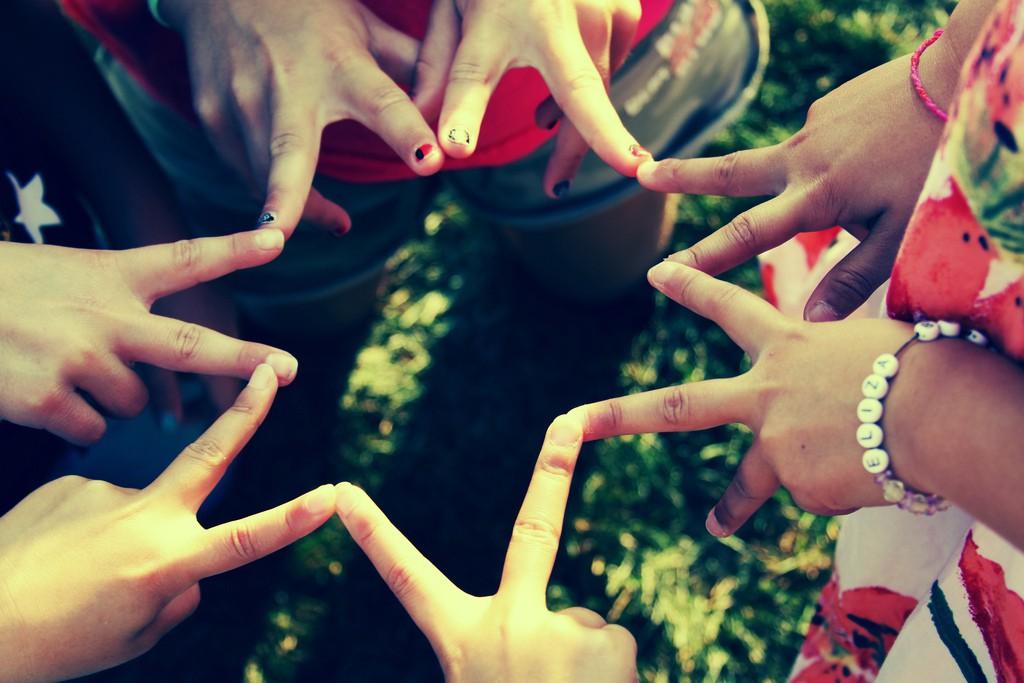 meilleures amies mains étoile