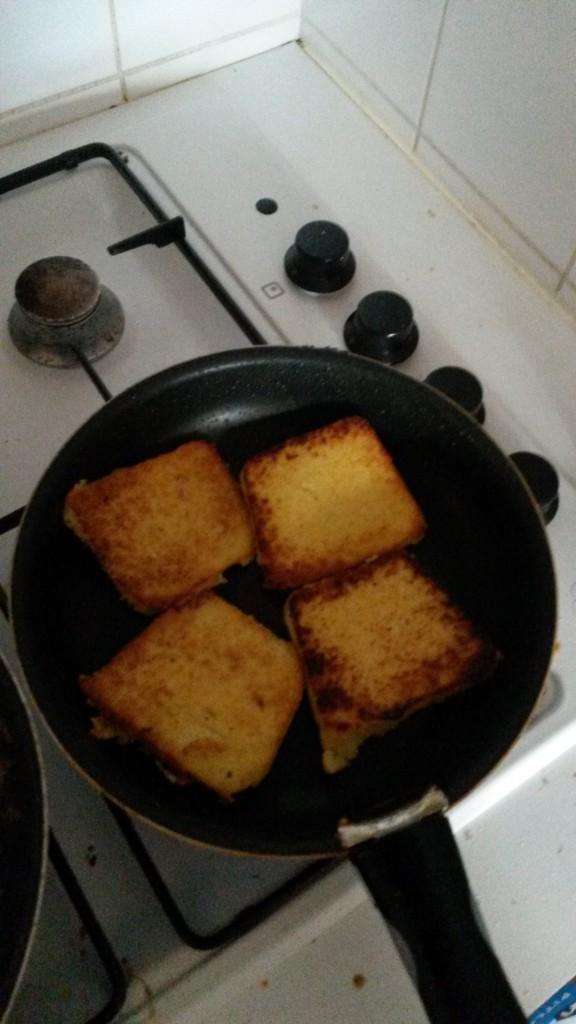 tranches de polenta à la poêle