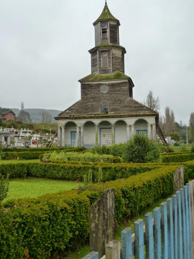 église en bois de Nercon sur l'île de Chiloé - Chili