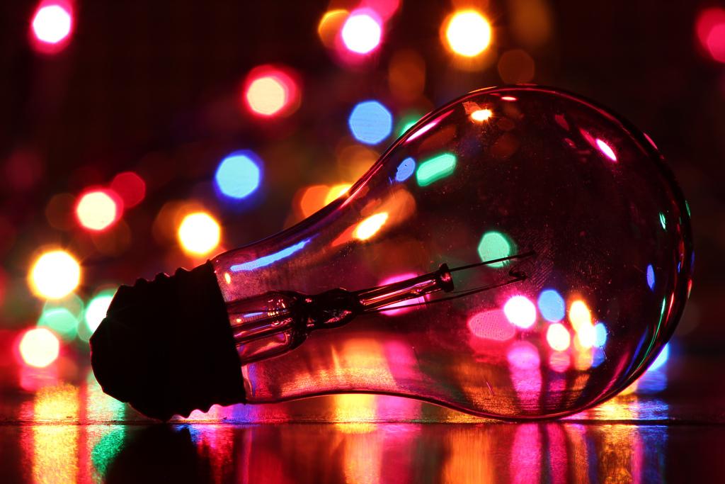 ampoule lumières bokeh
