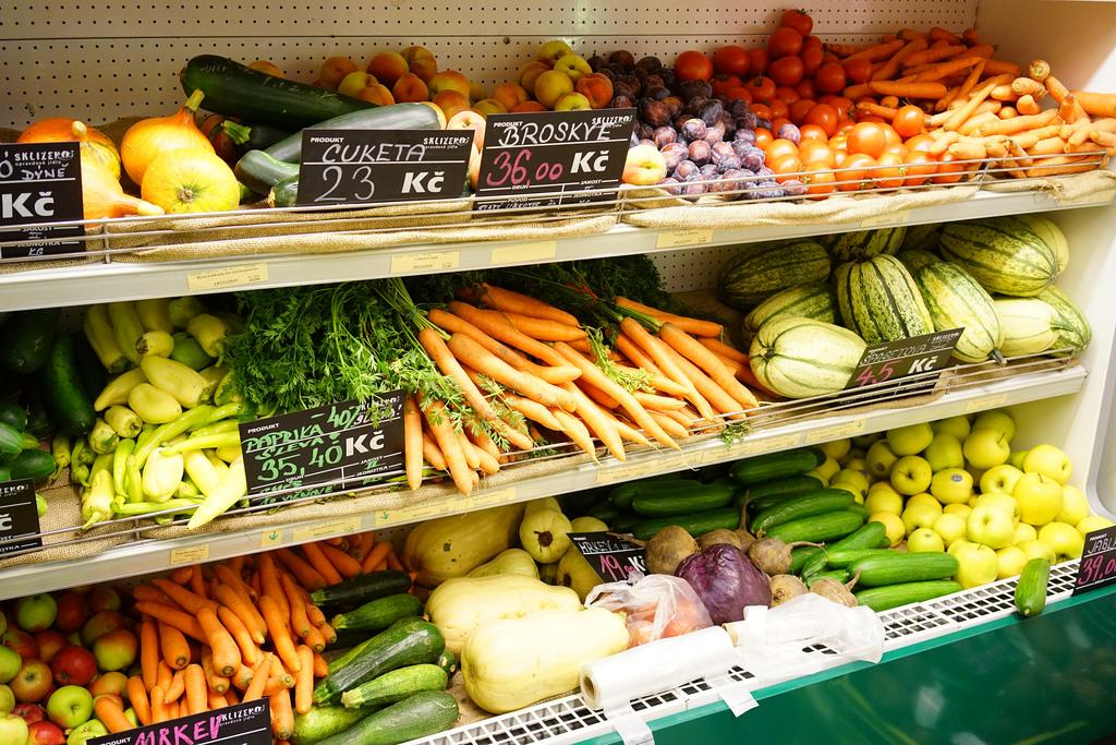 Légumes en magasin