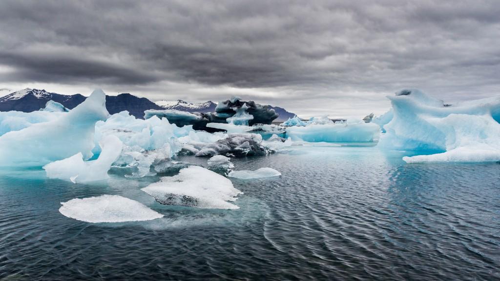 icebergs colorés