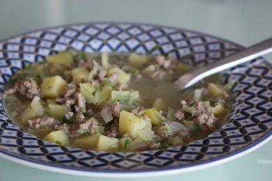 Soupe de brocoli-rave