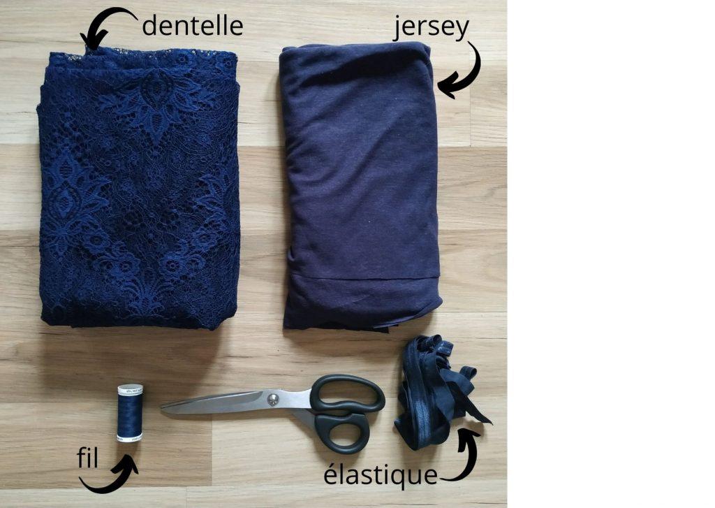 Tutoriel DIY : un joli body en dentelle et son kimono assorti